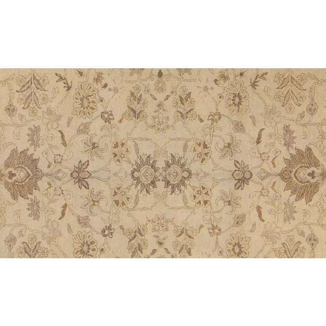 "Rustic Kafkaz Peshawar Vicky Ivory & Tan Wool Rug - 10'2"" x 13'11"" For Sale - Image 3 of 7"