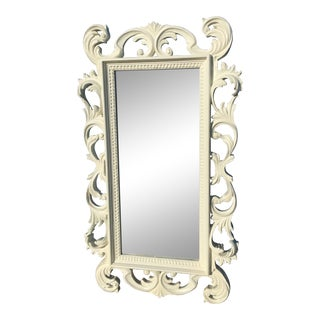Vintage Late 20th Century White Painted Mirror For Sale