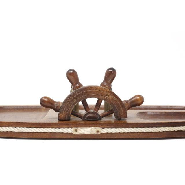 Vintage Wood Nautical Dresser Valet For Sale - Image 10 of 11