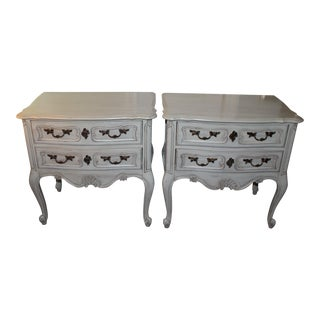 Hickory French Side Tables - A Pair