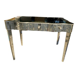 Antiqued Mirror Writing Desk For Sale