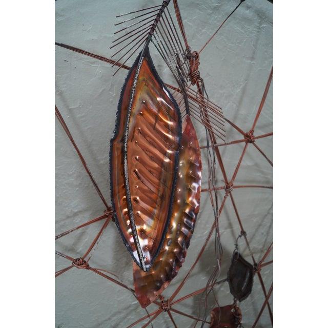Curtis Jere Metal Dreamcatcher Wall Sculpture - Image 4 of 10