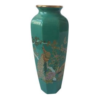 Japanese Porcelain Peacock Vase