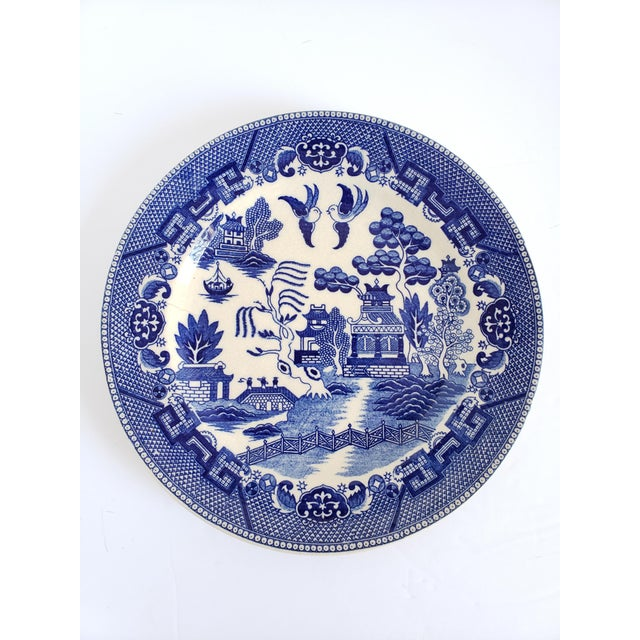 "Antique ""House of Blue Willow"" Made in Japan Dinner Plates-Set of 4 For Sale - Image 11 of 13"