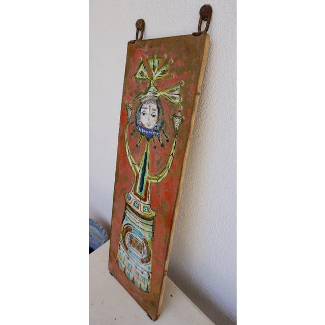 Bruno Capacci Whimsical Ceramic Tile by Bruno Capacci For Sale - Image 4 of 7