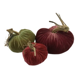 Plush Pumpkins Blushing Fall Pumpkin Trio - Set of 3 For Sale