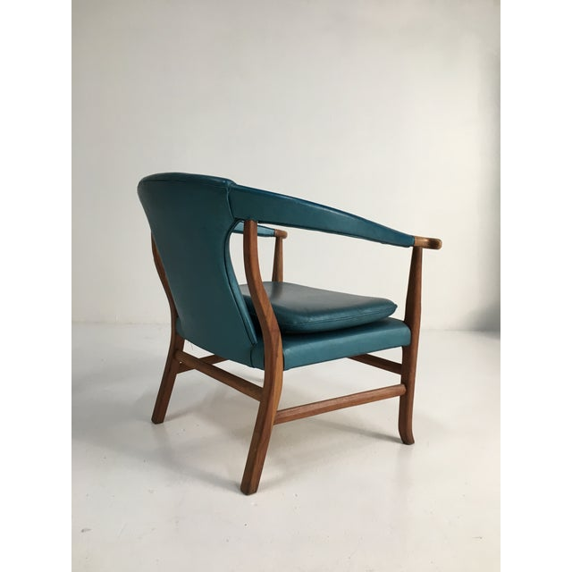 Asian Mid-Century Walnut Ming Horseshoe-Style Slipper Armchair For Sale - Image 3 of 13