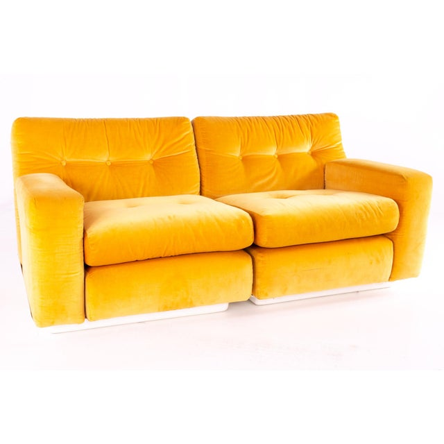 Jack Cartwright for Founders Mid Century Sectional Fiberglass Sofa For Sale - Image 13 of 13
