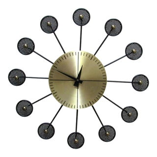 Mid-Century Modern Wall Clock, Manner of George Nelson For Sale