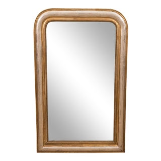 Giltwood and Silvered Louis Philippe Mirror For Sale