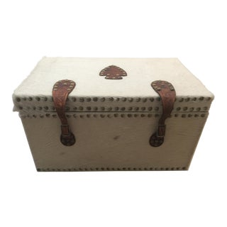 Western Cow Hide Trunk With Spur Handles For Sale