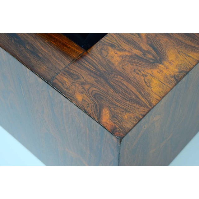 Milo Baughman for Thayer Coggin Rosewood Case Sofa in Maharam Mohair For Sale - Image 11 of 13