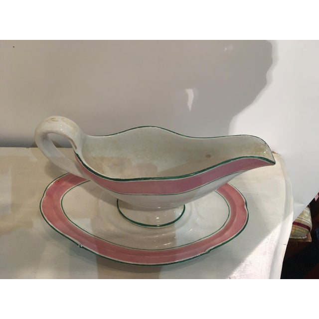Hollywood Regency Palm Beach Regency Style Gravy Boat For Sale - Image 3 of 7