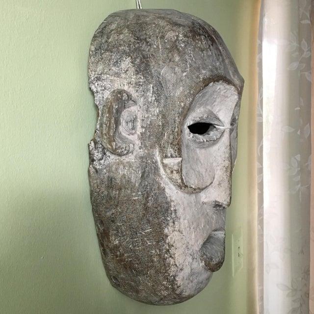 Vintage Tribal Hand Carved African Mask For Sale - Image 4 of 9