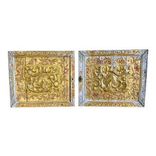 Italian Gilt Wood Panels C. 1900s - a Pair For Sale