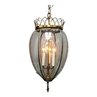 Regency Style Tear Drop Lantern For Sale