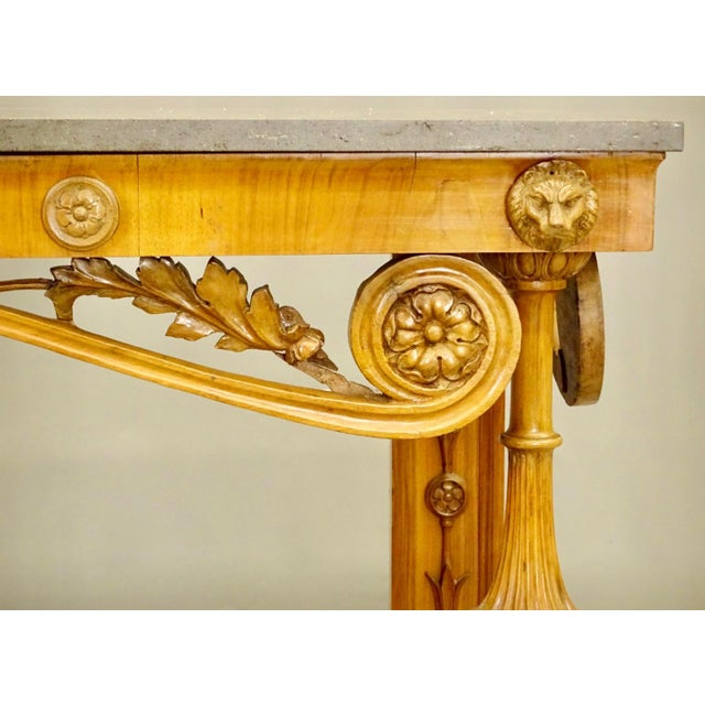 19th Century Biedermeier Fruitwood Console For Sale - Image 4 of 8