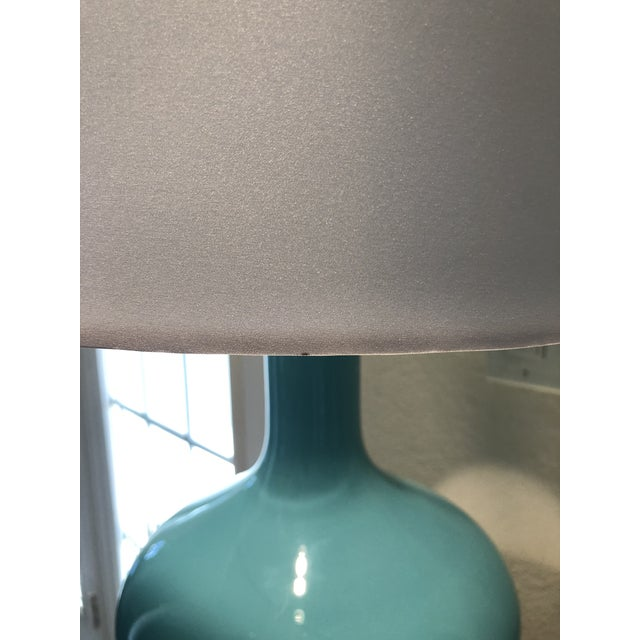 Glass Arteriors Rory Lamps With Silk Shades - a Pair For Sale - Image 7 of 9