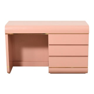 1980s Pink Waterfall Desk For Sale