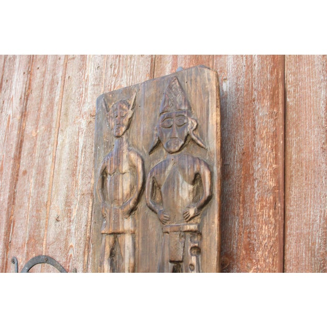 19th Century Nagaland Tribal Carved Panel For Sale - Image 5 of 10