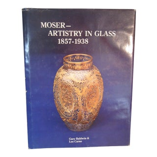 Moser- Artistry in Glass 1857-1938 Hard Cover Book Signed by Author Lee Carno, First Edition For Sale