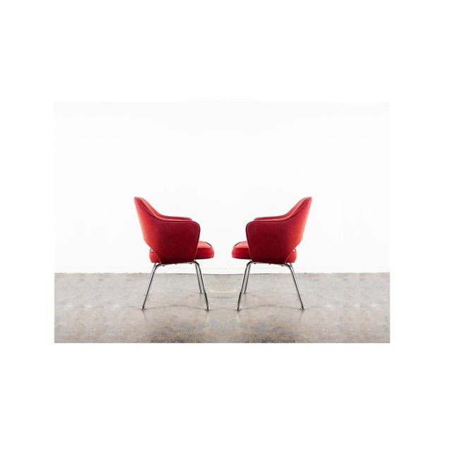 Mid-Century Modern Ten Vintage Eero Saarinen Executive Chairs by Knoll For Sale - Image 3 of 5