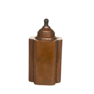 Early 20th Century Vintage Copper Tea Caddy Stash Box For Sale