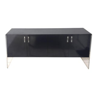 Purple & Transparent Lucite Credenza