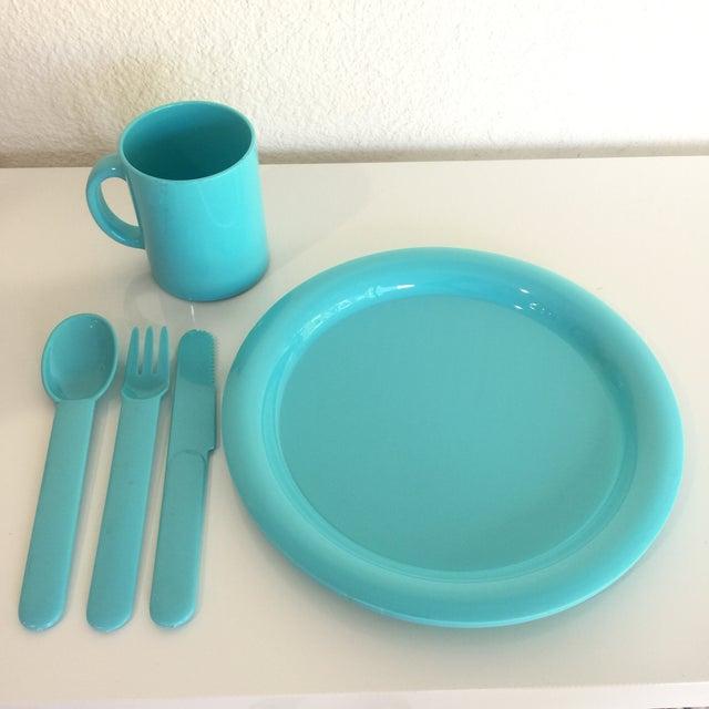 1980s Vintage Modern Pastel Melamine Dinnnerware - 20 Pieces For Sale - Image 4 of 7