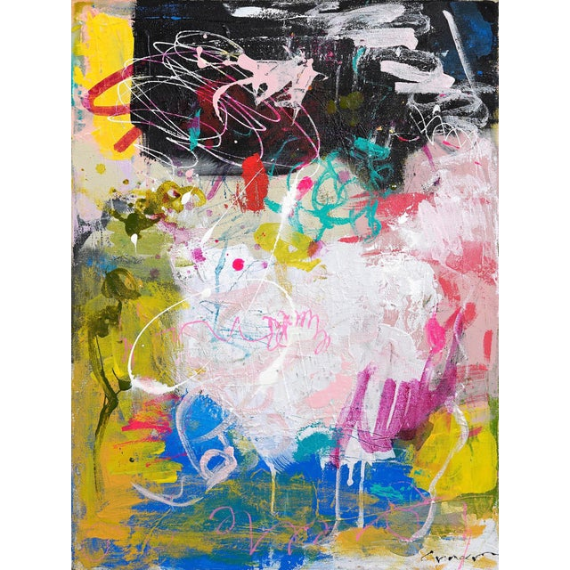"""Abstract Lesley Grainger """"Reinterpret"""" Original Abstract Painting For Sale - Image 3 of 3"""