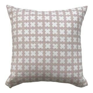 Greige Textiles Felix Lipgloss on Oyster Pillow For Sale