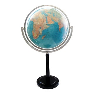 Monumental Vintage German World Globe For Sale