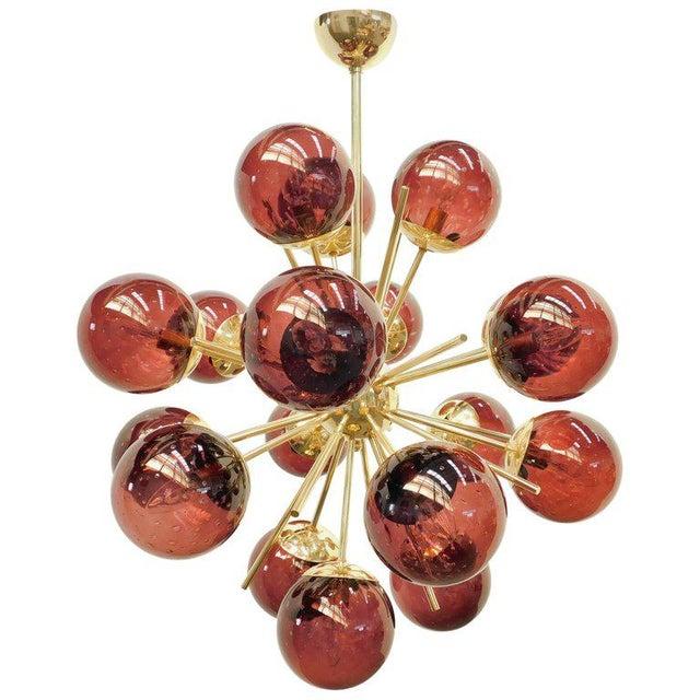 Gold Diciotto Sputnik Chandelier by Fabio Ltd For Sale - Image 8 of 8