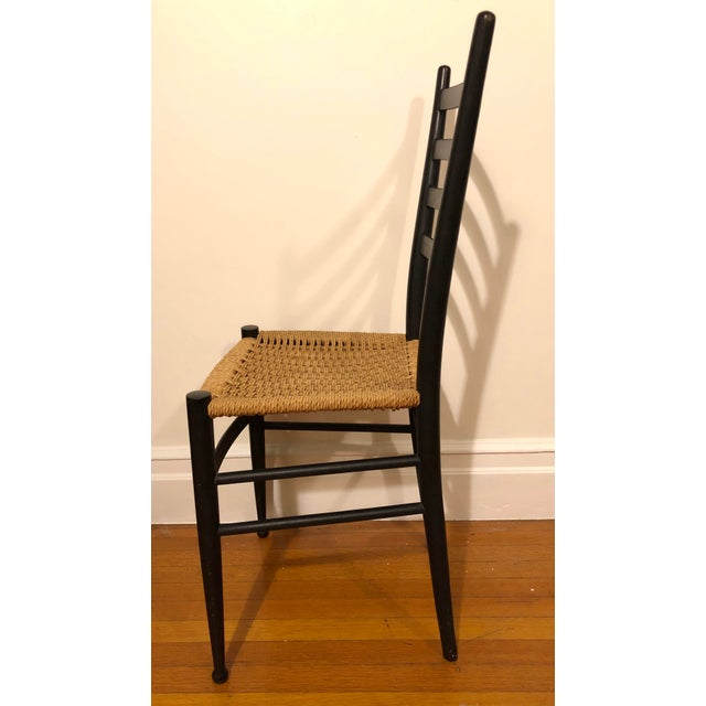 1960s Mid Century Modern Gio Ponti Black Side Chair For Sale - Image 5 of 8