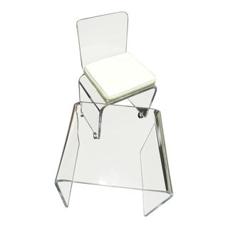 Vintage Lucite Table & Chair
