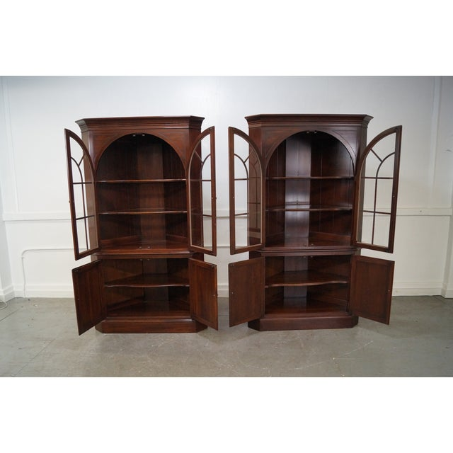 Ethan Allen Georgian Court Cherry Cabinets - Pair - Image 2 of 10