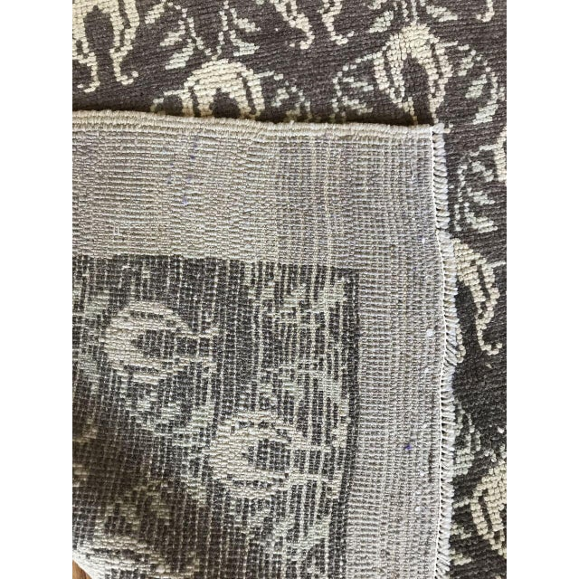 """Bellwether Rugs Vintage Brown Patterned Turkish Rug """"Remy"""" - 4′2″ × 6′1″ For Sale In Los Angeles - Image 6 of 7"""