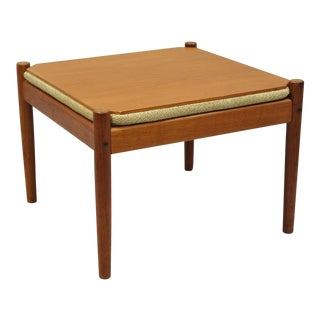 1960s Vintage Danish Modern Flip Top Side Table / Stool For Sale
