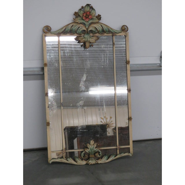 Metal Venetian Style Wrought Iron Console and Mirror For Sale - Image 7 of 12