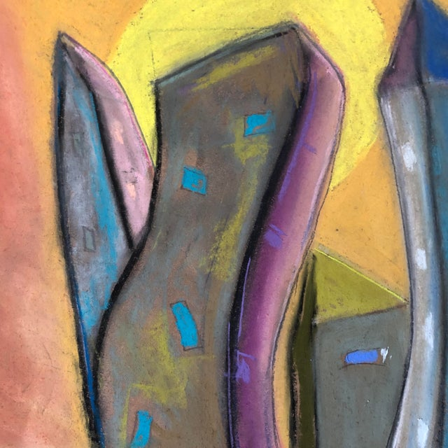 """Who City"" an Original Patel by Erik Sulander on Paper 12x12 Signed, unframed"