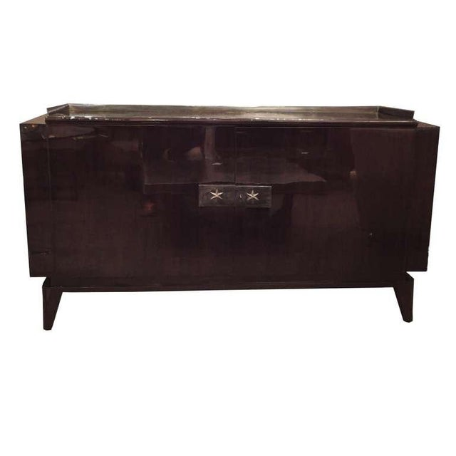 Andre Sornay Two Door Sideboard in Palisander and Bronze For Sale - Image 4 of 4