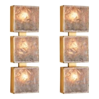 Studio a Home Modern Triple Cube Sconces-a Pair For Sale