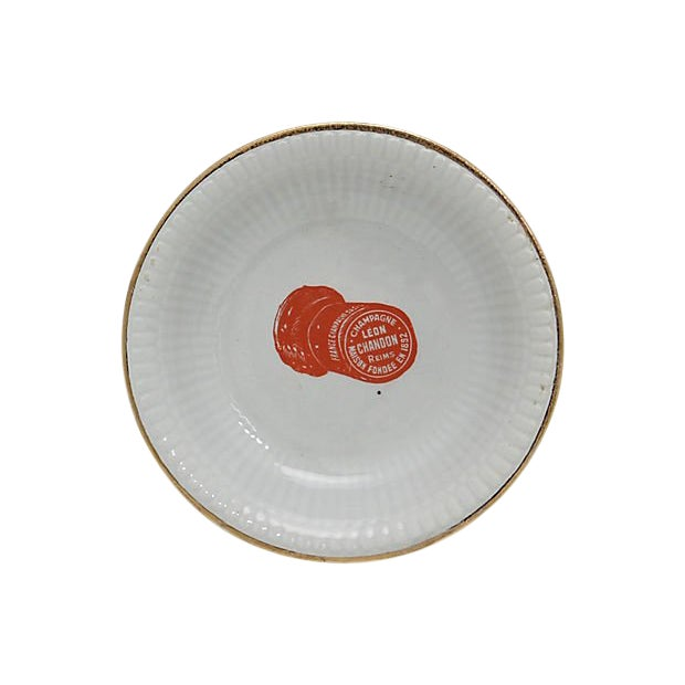 French Champagne Bistro Nut / Olive Dish For Sale