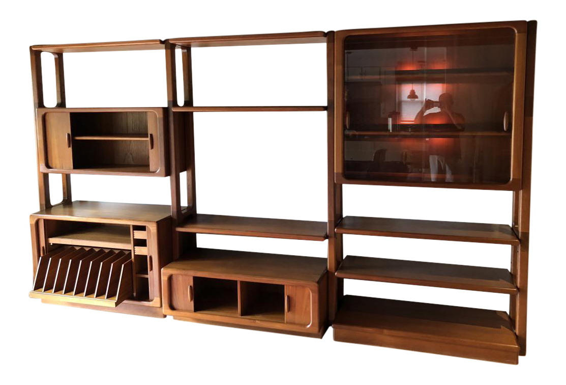 Dyrlund Modern Mid Century Danish Solid Teak Wall Cabinet