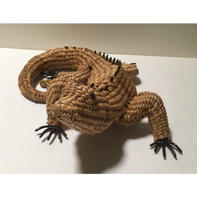Vintage Mario Lopez Torres Woven Iguana Figurine For Sale - Image 4 of 10