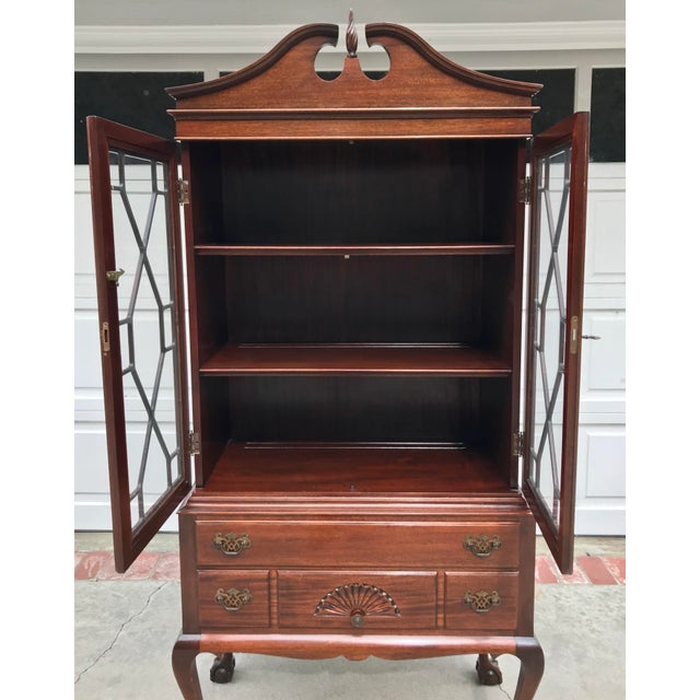 Mahogany Chippendale Style Ball & Claw Cabinet - Image 2 of 6