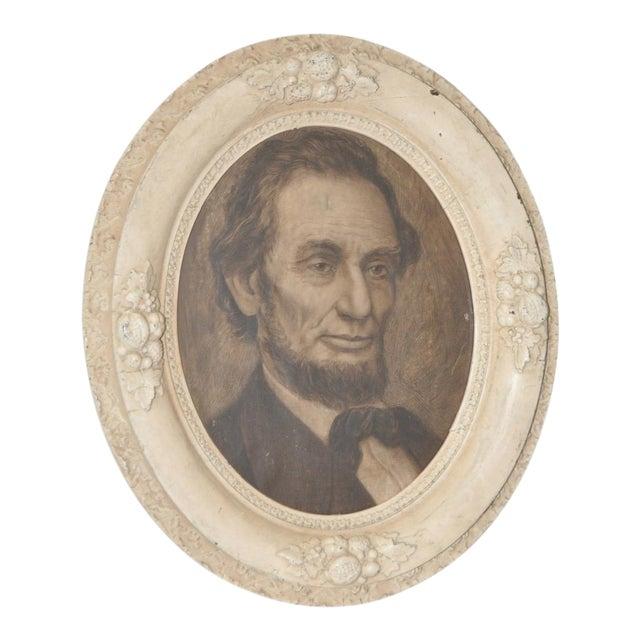 Abraham Lincoln, 19th C. Original Pencil Portrait - Image 1 of 6
