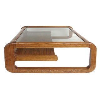 Mid-Century Modern Lou Hodges Coffee Table, California Design For Sale