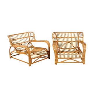 Spectacular Pair of Custom Commissioned Loungers After Viggo Boesen For Sale