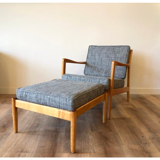 Folke Ohlsson for Dux - Danish MCM Arm Chair With Ottoman For Sale - Image 12 of 12